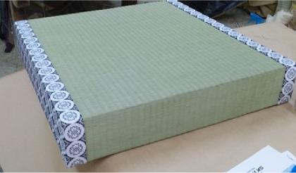 二方縁厚畳白中紋