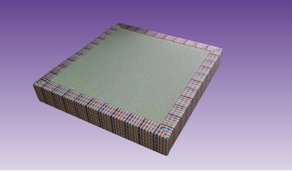 正絹青繧繝縁厚畳